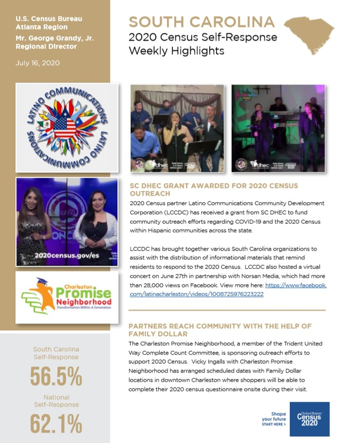 2020 SC Census Weekly Newsletter