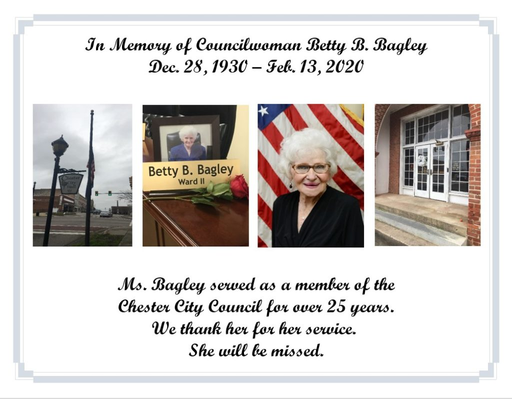In Memory of Councilwoman Betty Bagley